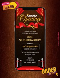 Invitation Card for Shop Opening