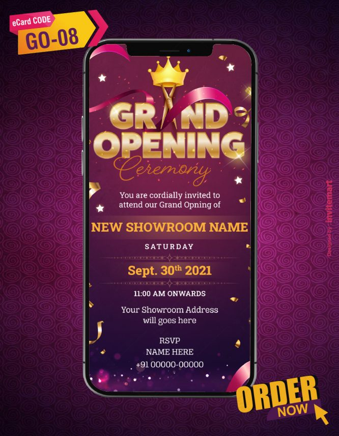 Business Grand Opening Invitation Card