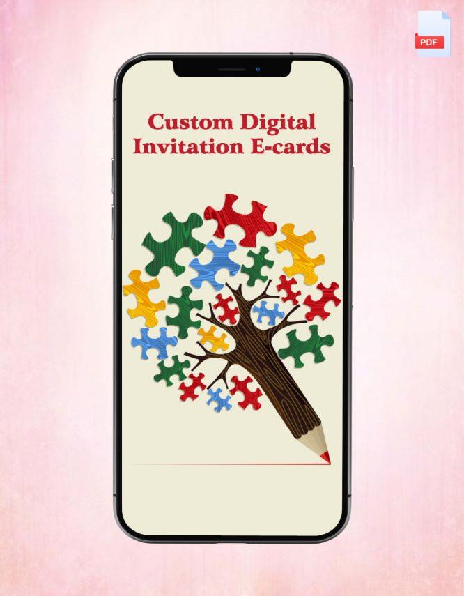 Fully Custom New Invitation Card With Own Idea