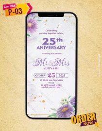 25th Anniversary Invitation eCard|