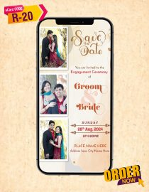 Engagement Invitation Card With Couple Photo