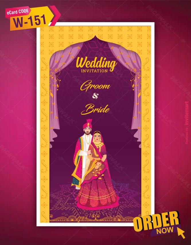 Hindu Traditional Wedding Invitation