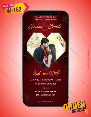 Photo Wedding Invitation Card