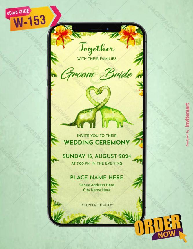 Animal Wedding Invitation Card