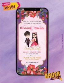 Cute Couple Wedding Invite Card