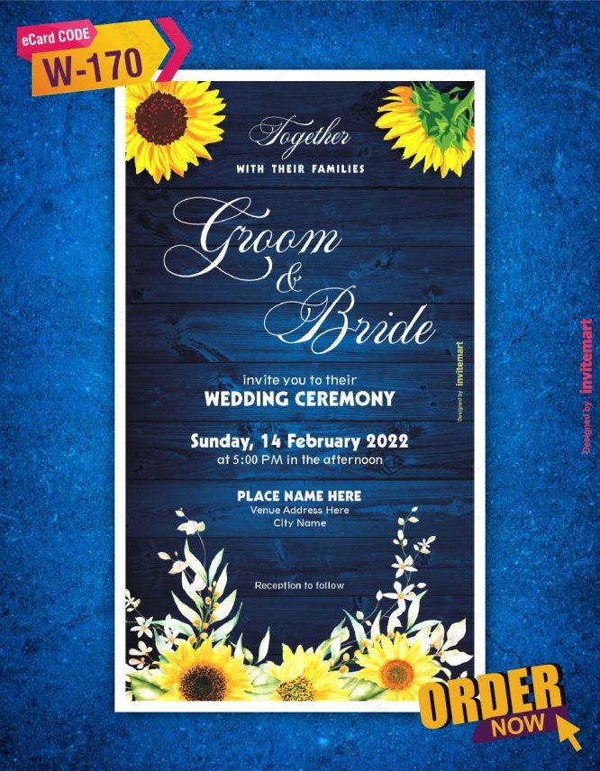 Elegant Spring Yellow Flowers Wedding Invitation