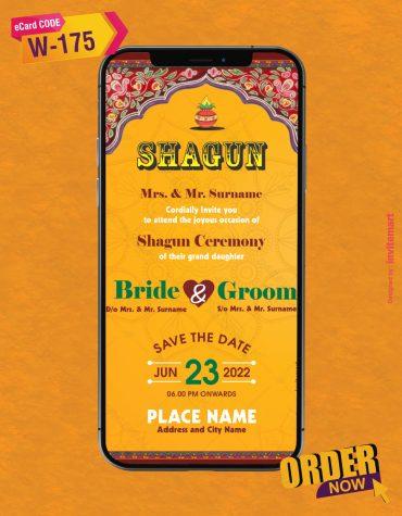 Shagun Ceremony Invitation Card