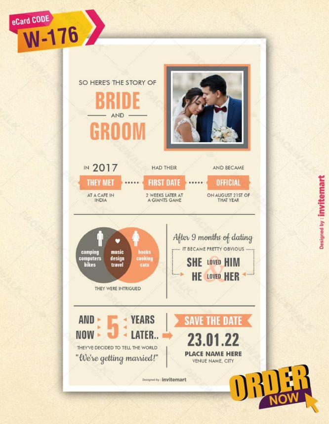 Love Story Wedding Card