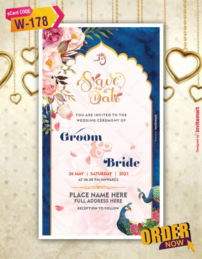 Indian Save the Date Card Online