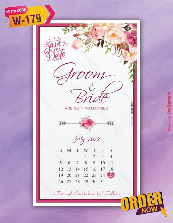 Calendar Save The Date Invite Card