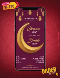 Muslim Wedding Save the Date Card