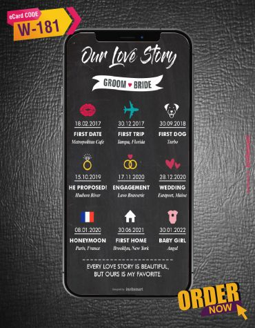 Creative Journey of Love Story Card