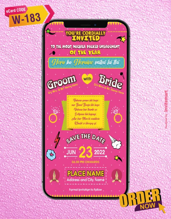 Funky Wedding Invitation card