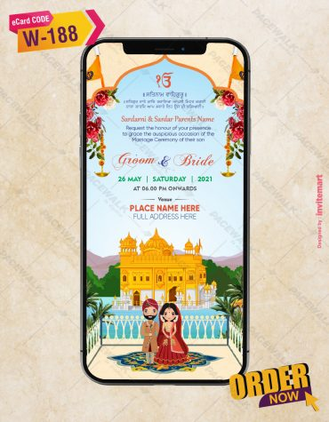 Punjabi Traditional Wedding Invitation Card