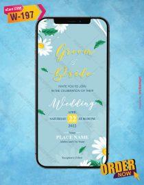 Daisy floral Wedding Invitations
