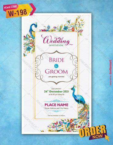 Elegant Peacock Wedding invitation