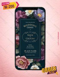 Floral Wedding Invitation Cards | W-200