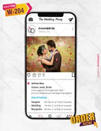 Instagram Save The Date Wedding Cards