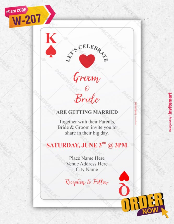 Playing Cards Wedding Invitation
