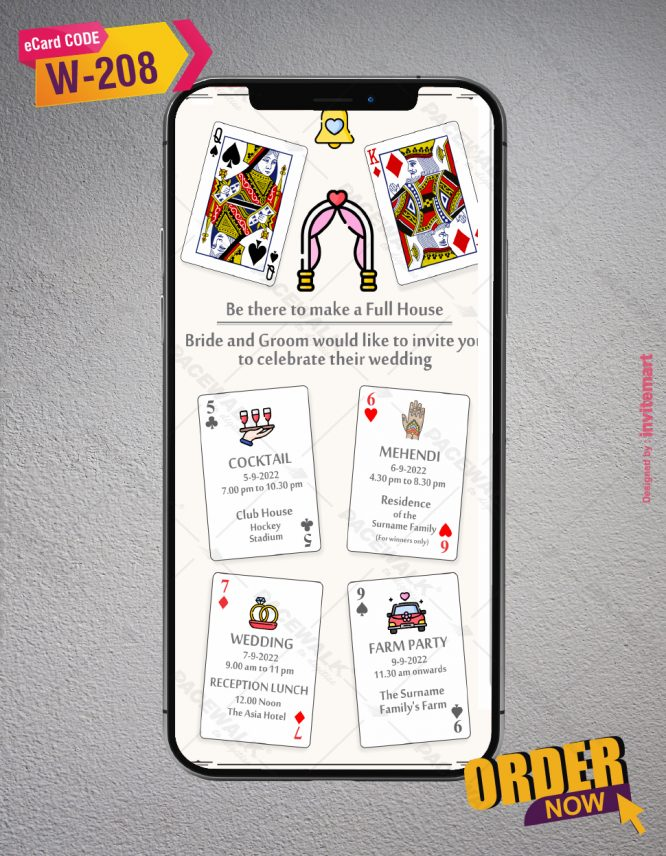 Poker Themed Wedding Invitations