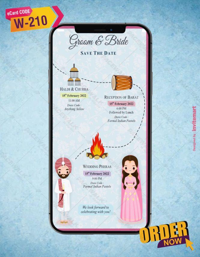 Punjabi Wedding Save The Date