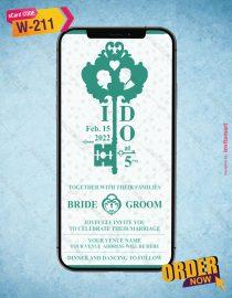 Lock And Key Theme Wedding Invitation