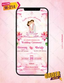 Beautiful Floral Wedding Invitation Cards