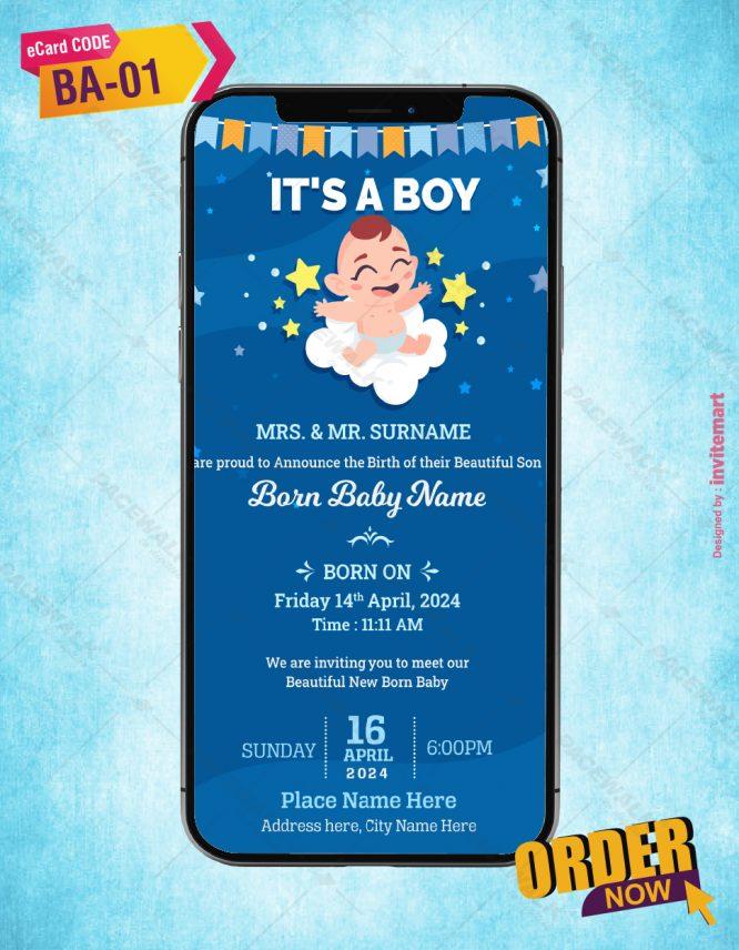 Baby Birth Announcement Invitation