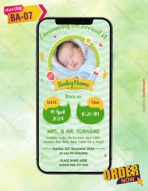 Birth Announcement of Baby Boy Invitation