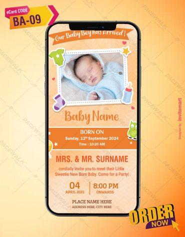 Unique Birth Announcement Invitation