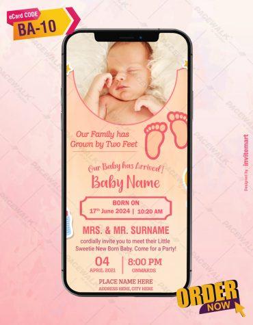 Beautiful Baby Birth Announcement Invitation