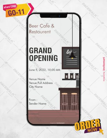 Restaurant and Cafe Grand Opening Invitation