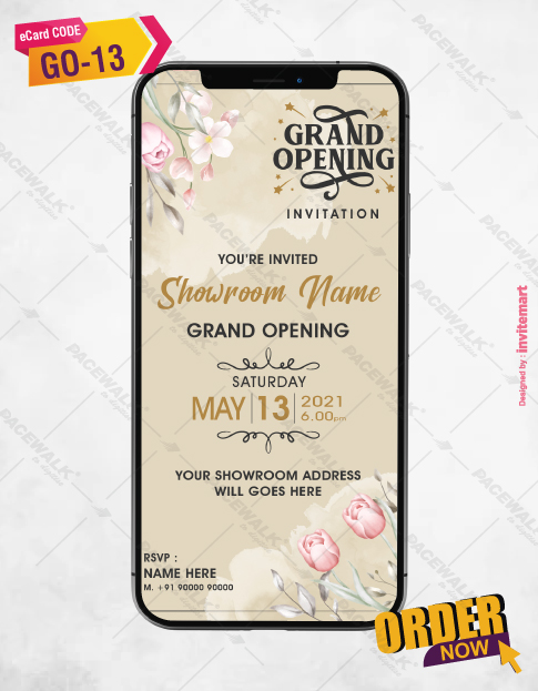 Floral Grand Opening Invitation