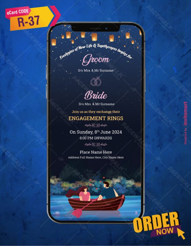 Engagement Ceremony Whatsapp Invitation