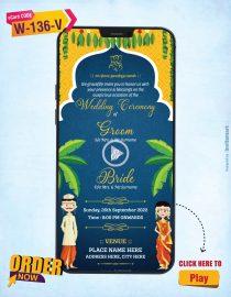 South Indian Theme Wedding Invitation Video