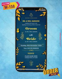 Hindu floral Wedding Invitation