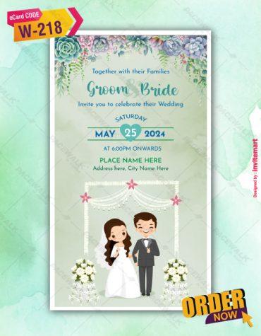 Beautiful Christian Couple Wedding Invitation Card