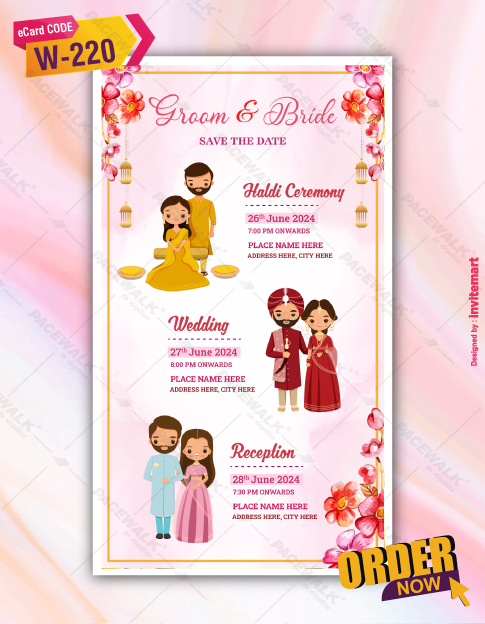Indian Wedding Invitation Save The Date