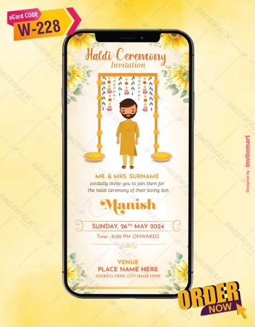 Groom Haldi Ceremony Invitation Templates