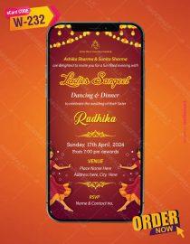 Floral Ladies Sangeet Wedding Invitation