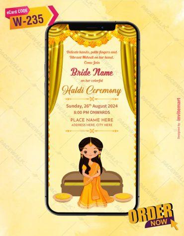 Bride haldi Ceremony Invitation