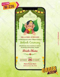 Beautiful Mehndi Ceremony Invitation