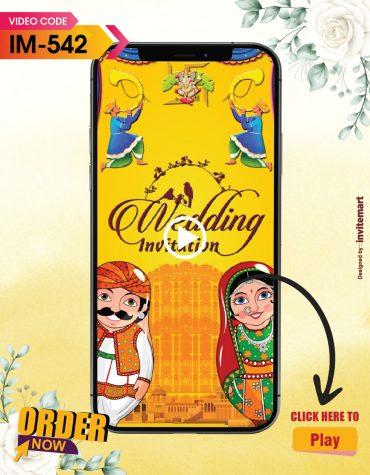 Rajasthani Traditional Wedding Invitation