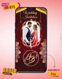 Vertical Rajasthani Wedding Invitation