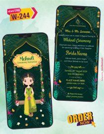 Floral Mehndi Ceremony Invitation