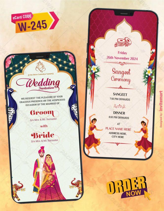 Wedding Invitation PDF Cards