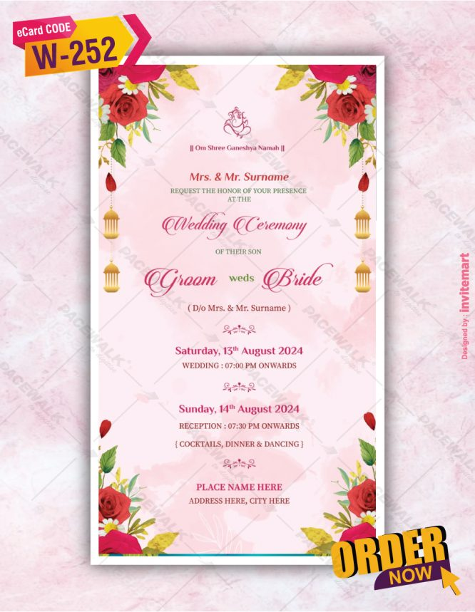 Floral Save The Date Wedding Invitation