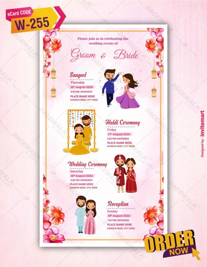 All in One Wedding Invitation Card
