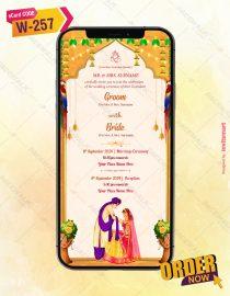 Traditional Indian Wedding Invitation