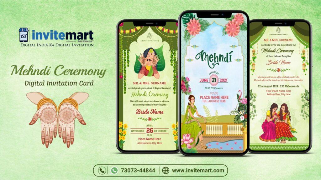 Mehndi Ceremony Invitation E-card